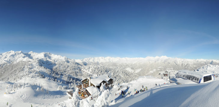 Bergpanorama im Skigebiet Folgarida-Marilleva.