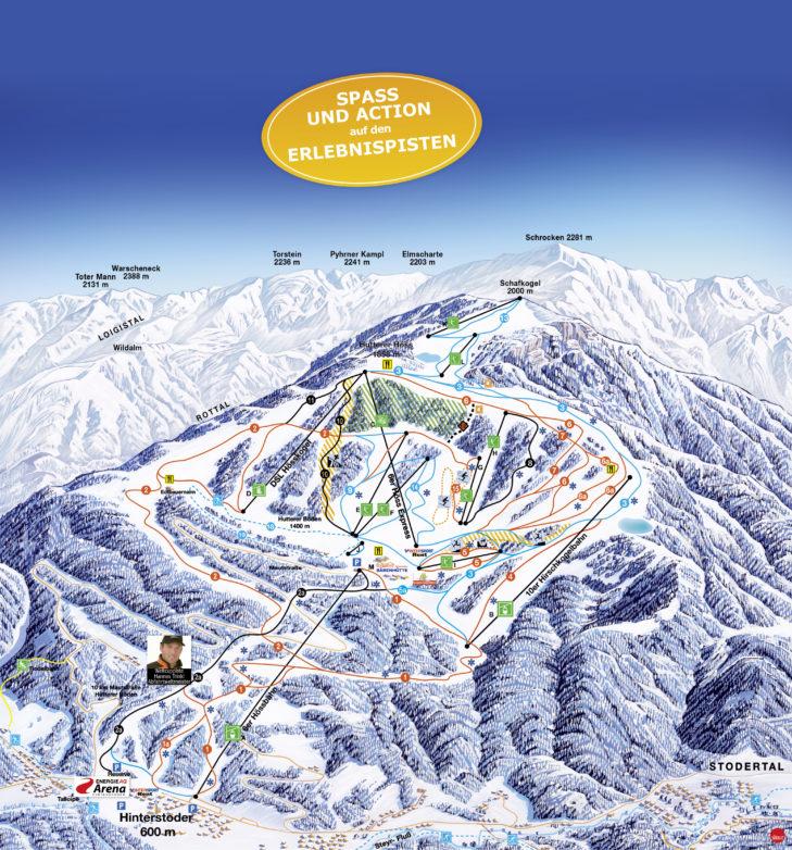 Pistenplan Skigebiet Hinterstoder/Wurzeralm