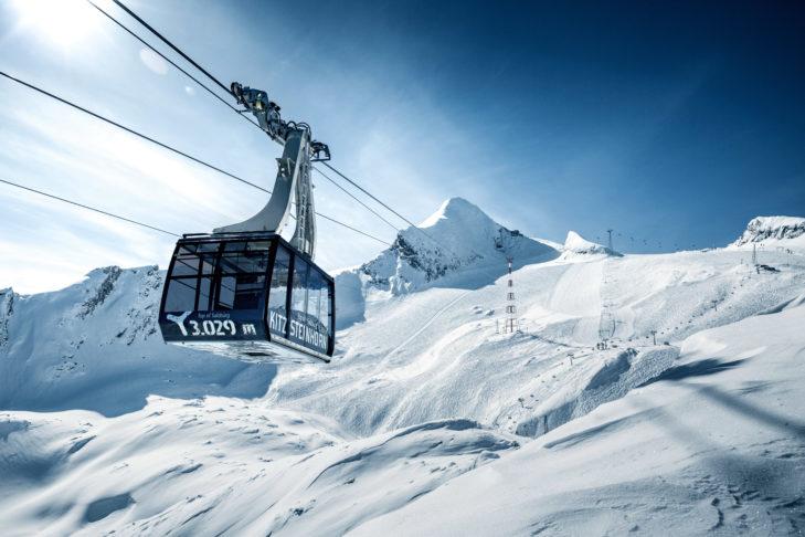 Auf dem Kitzsteinhorn in Kaprun geht es für Skiurlauber hoch hinaus.