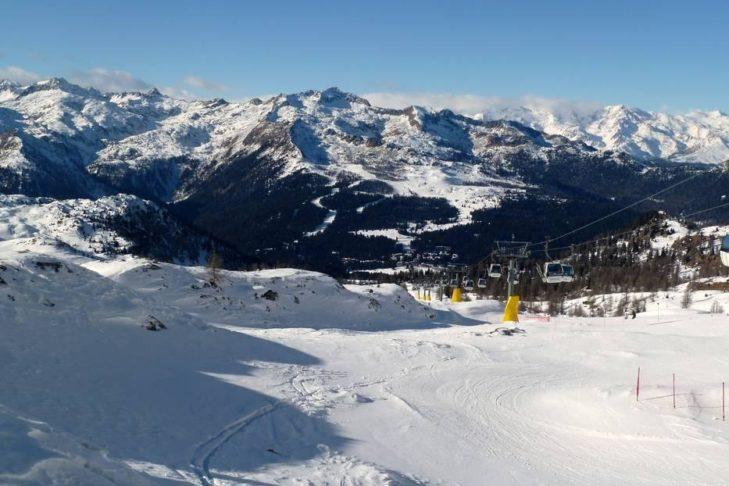 Blick über die Dolomiten.