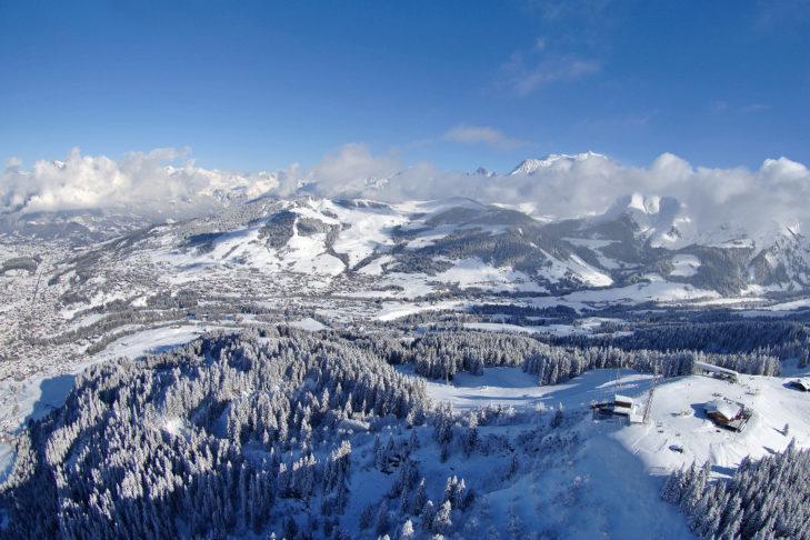 Das Panorama rund um Megève ist einfach traumhaft.