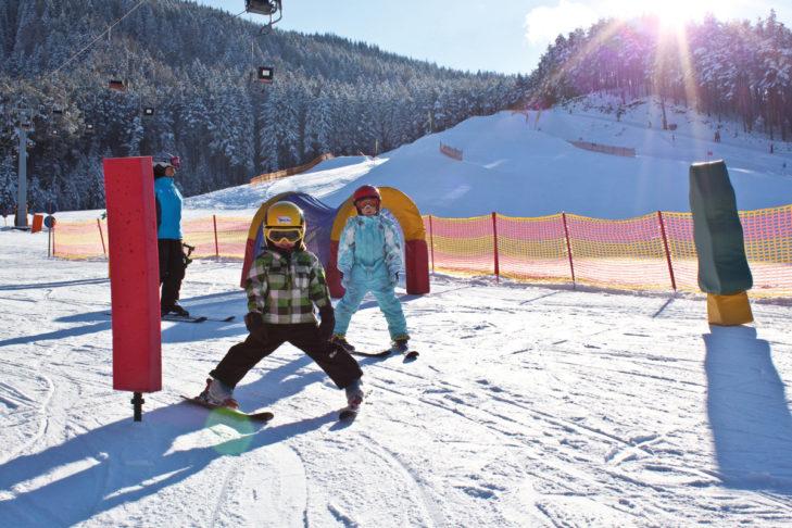 Das Skigebiet Grünberg ist ein Paradies für Skianfänger.