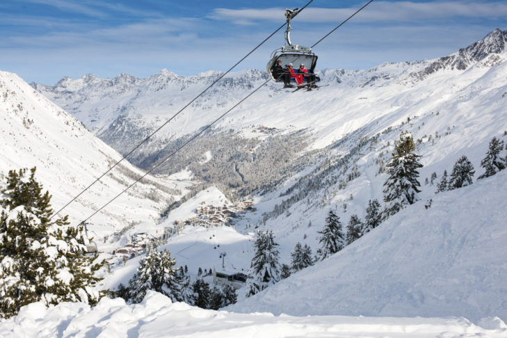 Weite Blicke vom Skigebiet Obergurgl-Hochgurgl aus.