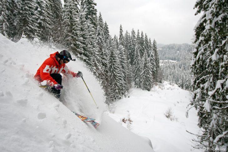 Skigebiet Pamporovo: Der üppige Schneefall begünstig das Powdern.