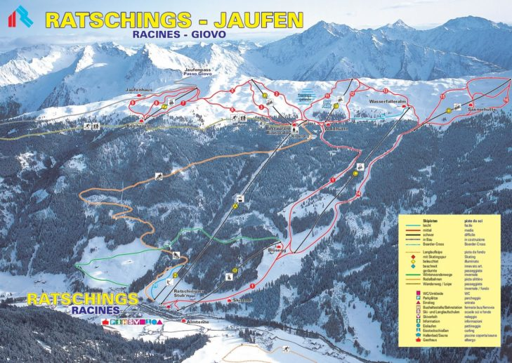 Pistenplan Skigebiet Südtiroler Wipptal