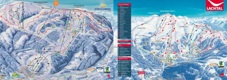 Pistenplan Skigebiet Kreischberg & Lachtal