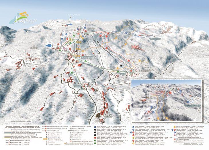 Pistenplan Skigebiet Pamporovo