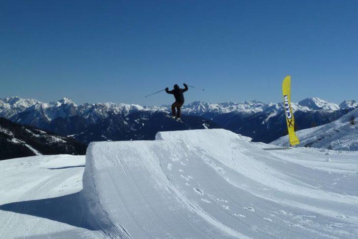 Freestyler im Skigebiet Sillian/Thurntaler.