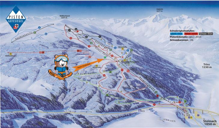 Pistenplan Skigebiet Ski- & Freizeit-Arena Bergeralm.