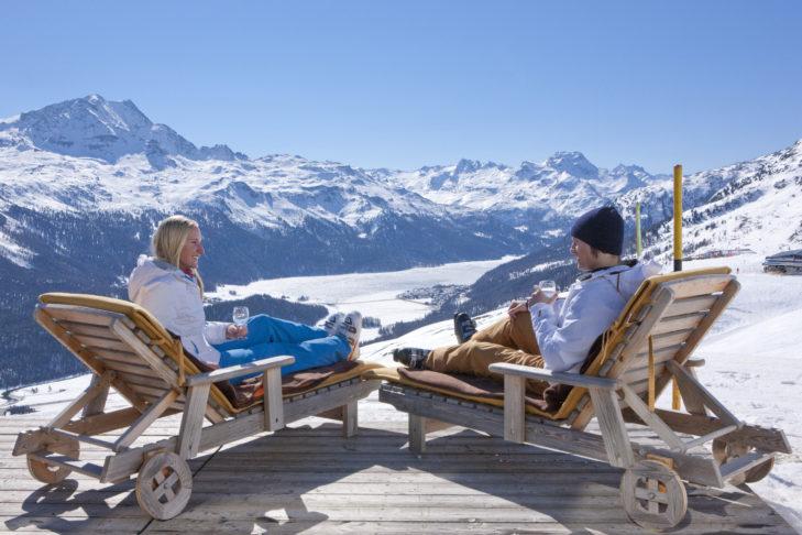 Die Wahrheit: Ein Skiurlaub bietet genügend Raum zur Entspannung.