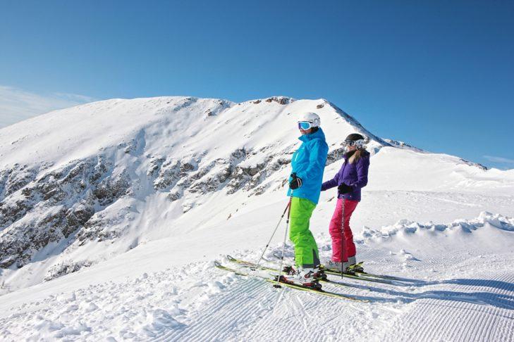 Im Skigebiet Turracher Höhe gibt es 42 Pistenkilometer unterschiedlicher Schwierigkeitsgrade.