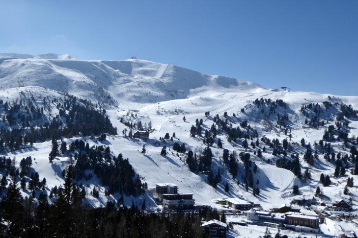 Reizvolle Landschaft rund um das Skigebiet Turracher Höhe.