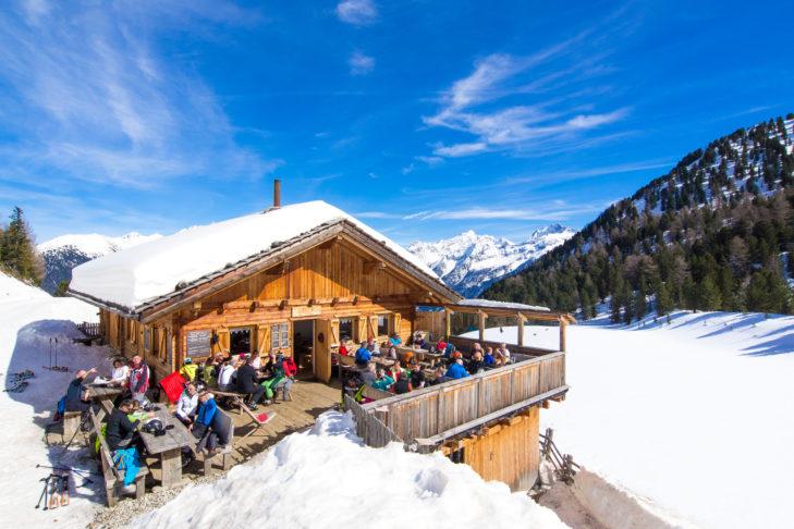 Skihütte mit Sonnenterasse im Ahrntal.