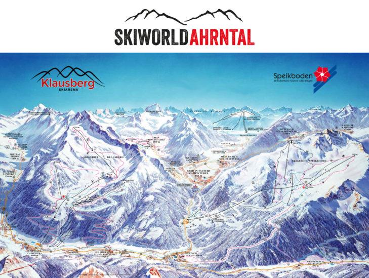Pistenplan Skigebiet Skiworld Ahrntal