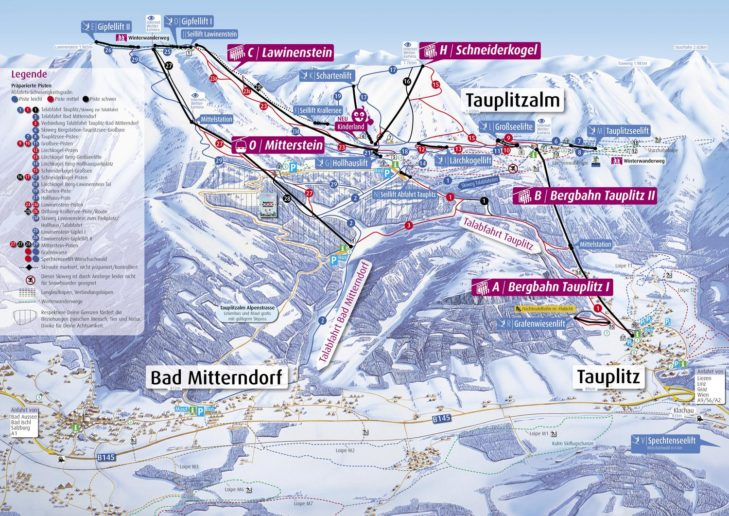 Pistenplan Skigebiet Tauplitz