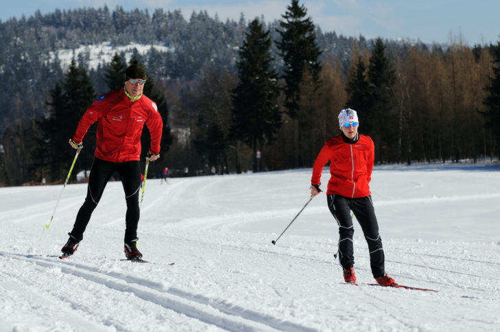 Skiarea Heubach: Auch Langläufer finden hier ihren Spaß.