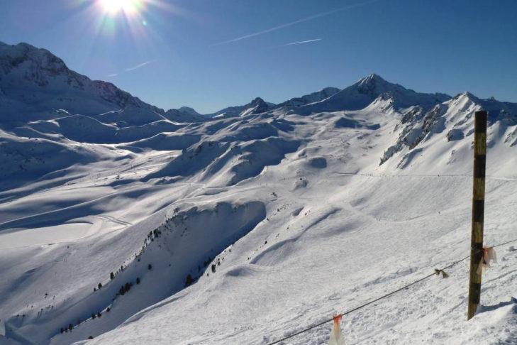 Weiße Winterwunderwelt im Skigebiet Les Arcs/Peisey-Vallandry.