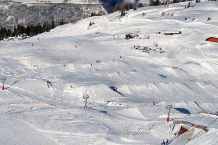 Skigebiet Les Arcs/Peisey-Vallandry: Auch ein Paradies für Freestyler.