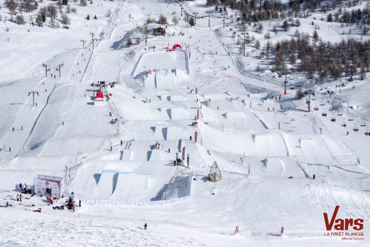 Das Snowpark-Angebot in Vars und Risoul ist groß und vielseitig.