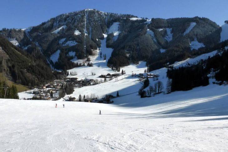 Das Skigebiet Werfenweng liegt auf einem Hochplateau am Tennengebirge.