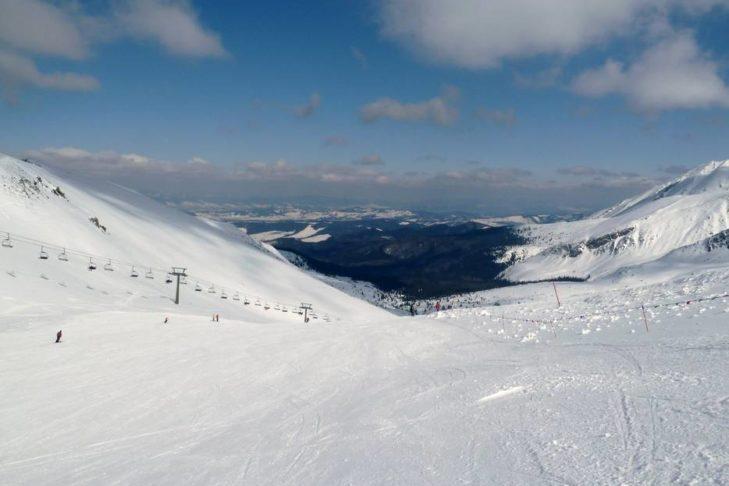 Vom Skigebiet Kasprowy Wierch aus hat man bei gutem Wetter einen weiten Blick.