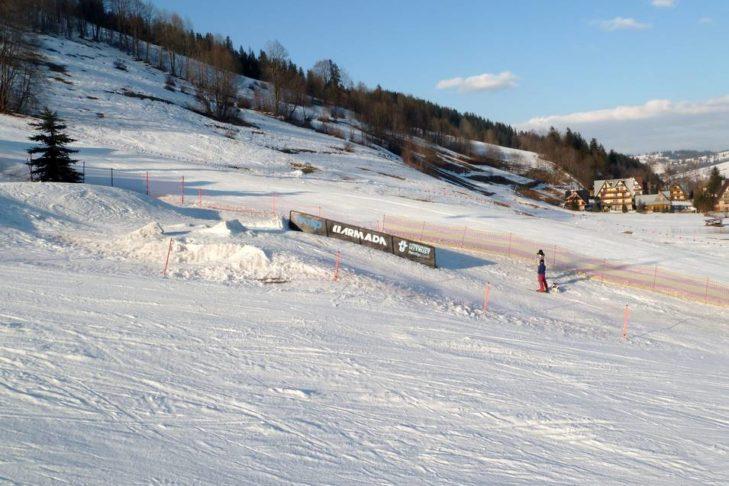 Auch Freestyler finden im Skigebiet Kasprowy Wierch ihre Obstacles.