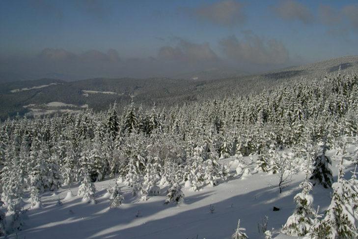 Das Skigebiet Špičák Železná Ruda liegt im Naturpark Böhmerwald.
