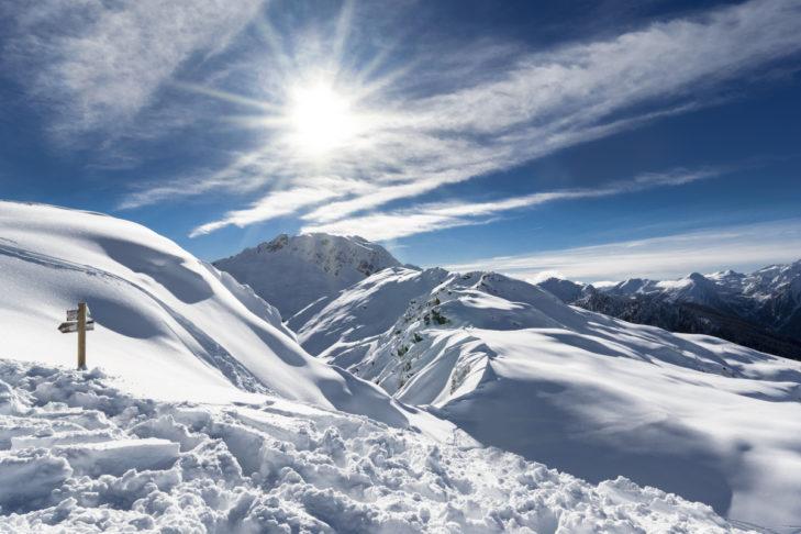 Die Dolomiten sind bei Freeridern sehr beliebt.
