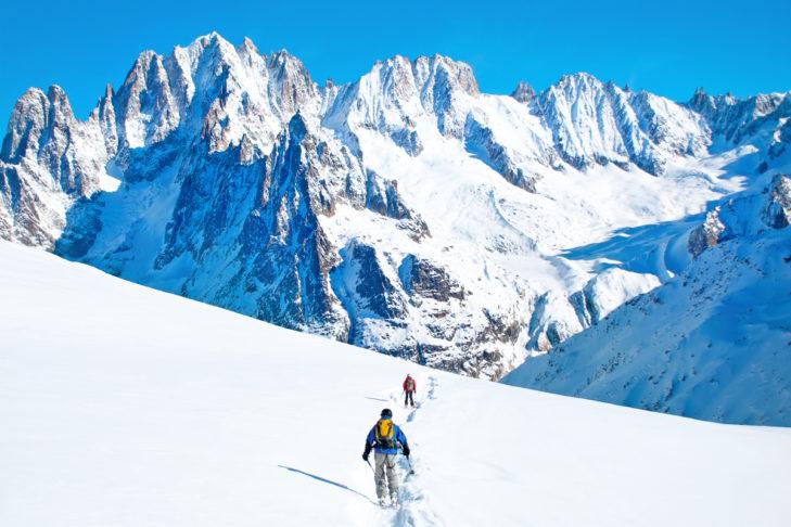 Traumhaftes Bergpanorama in Chamonix.