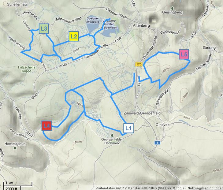 Loipenplan Altenberg