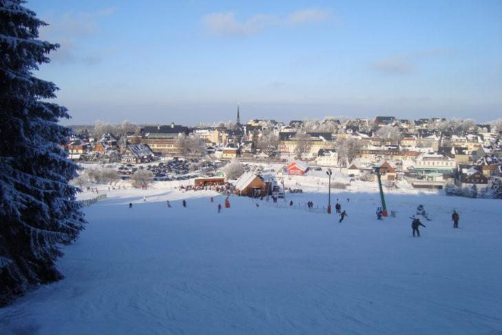 Idyllisch: Das Skigebiet Altenberg.