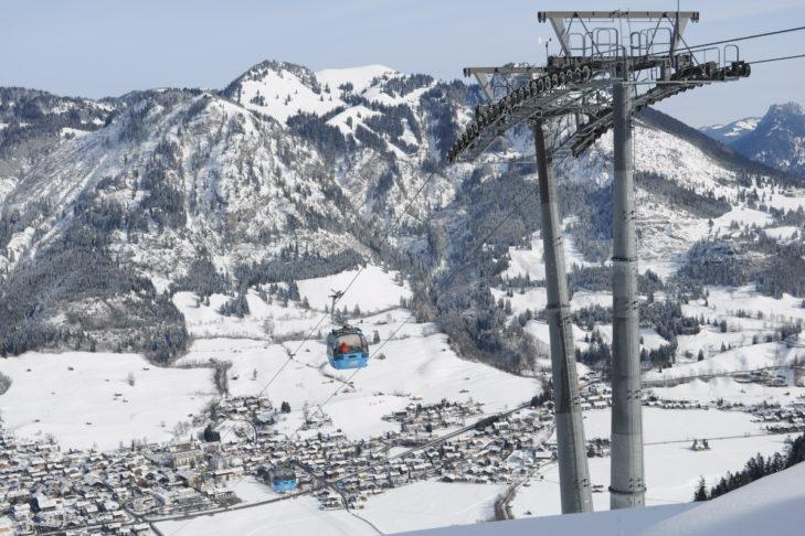 Ein beliebtes Wintersport-Ziel in Deutschland: Das Skigebiet Oberjoch/Bad Hindelang.