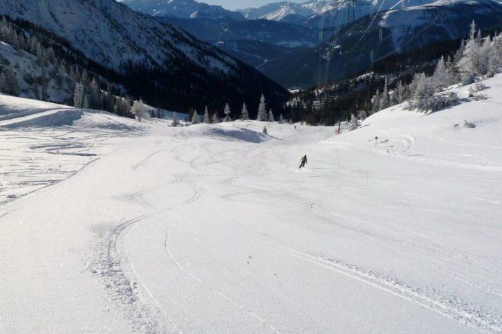 Skigebiet Marienberg: Breite, anfängerfreundliche Pisten.