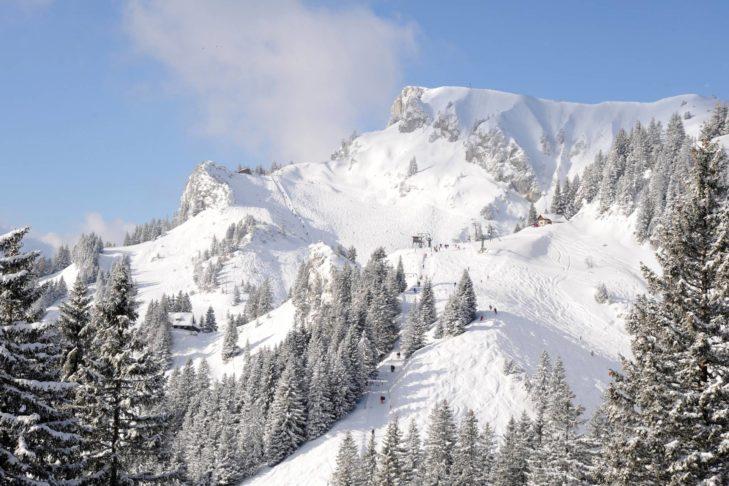 Skigebiet Brauneck-Wegscheid: Traumhafte Pistenlandschaft bei Lenggries.