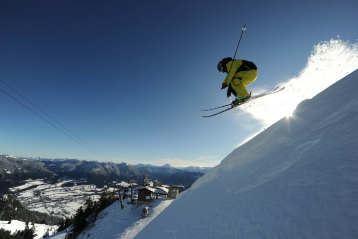 Das Skigebiet Brauneck-Wegscheid bietet auch anspruchsvolle Abfahrten für Könner.