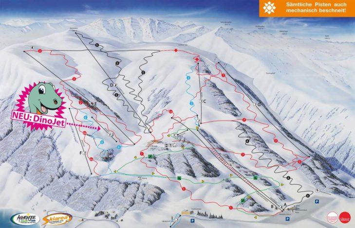 Pistenplan Skigebiet Christlum