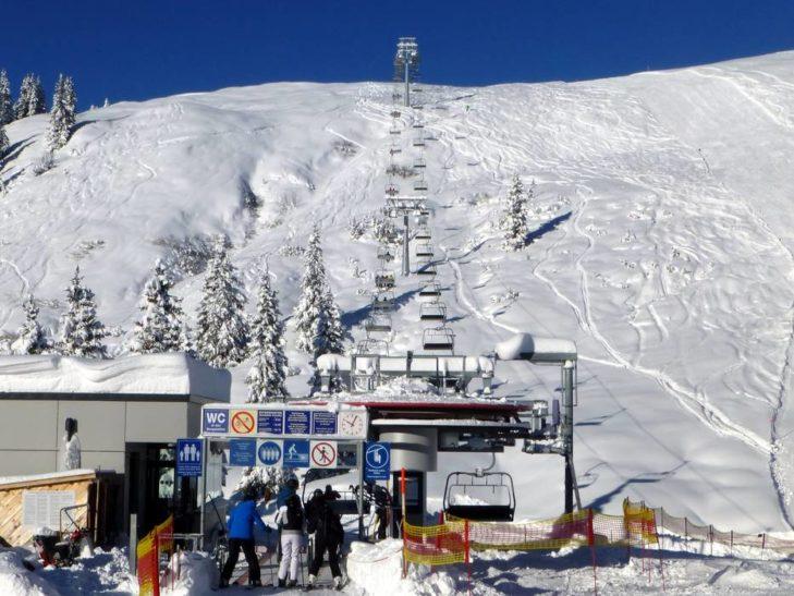 Das Skigebiet Sonnenkopf liegt in Höhenlagen zwischen 1.000 und 2.300 m.