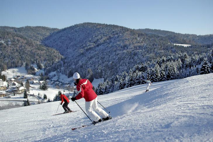 Skigebiet Feldberg: Familienfreundliche Talabfahrt.