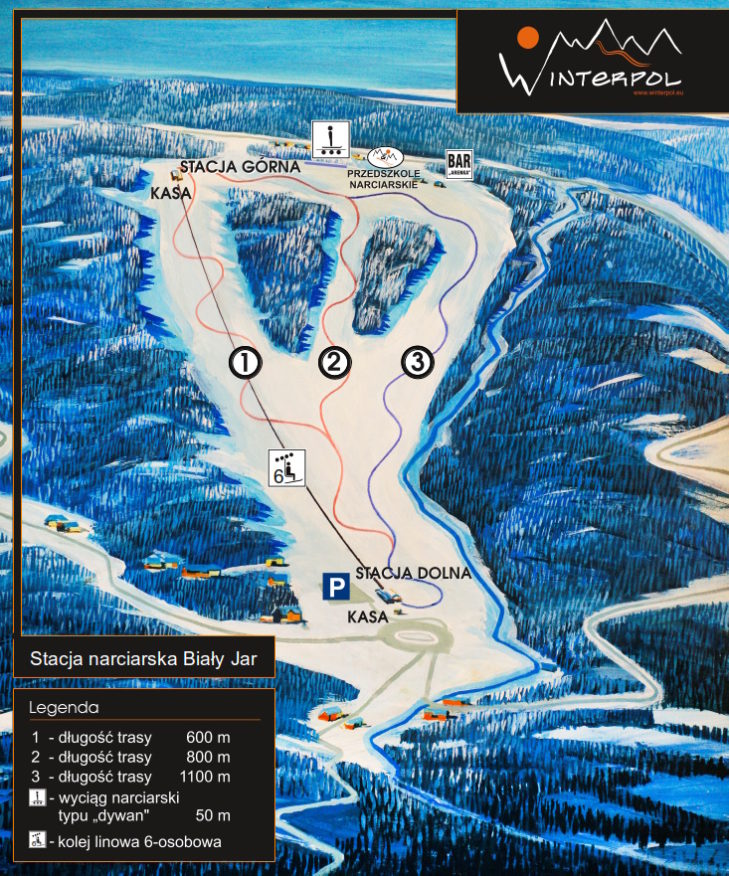 Pistenplan Skigebiet Śnieżka-Karpacz.