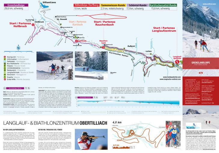 Pistenplan Skigebiet Kartitsch.