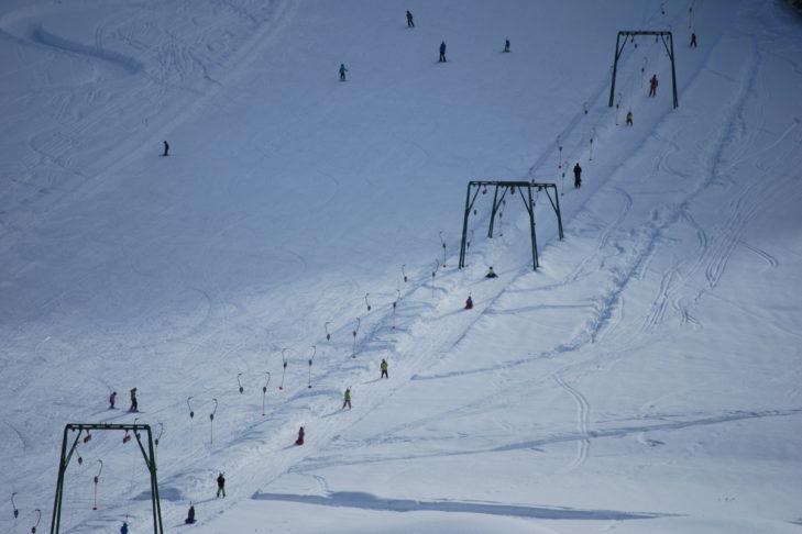 Tellerlift im Skigebiet Kartitsch - ideal für Anfänger.
