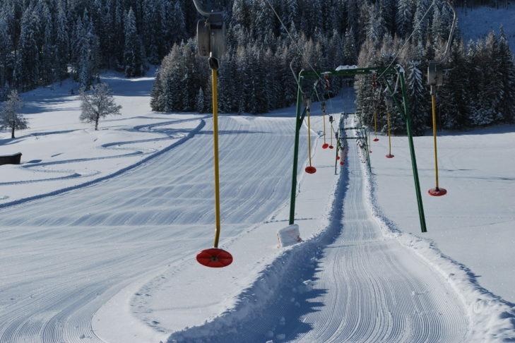 Im Skigebiet Kartitsch lässt es sich hervorragend das Skifahren üben.
