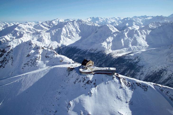 Das Hotel Grawand ist das höchstgelegene Hotel der Alpen und eignet sich perfekt für ein Skiwochenende.
