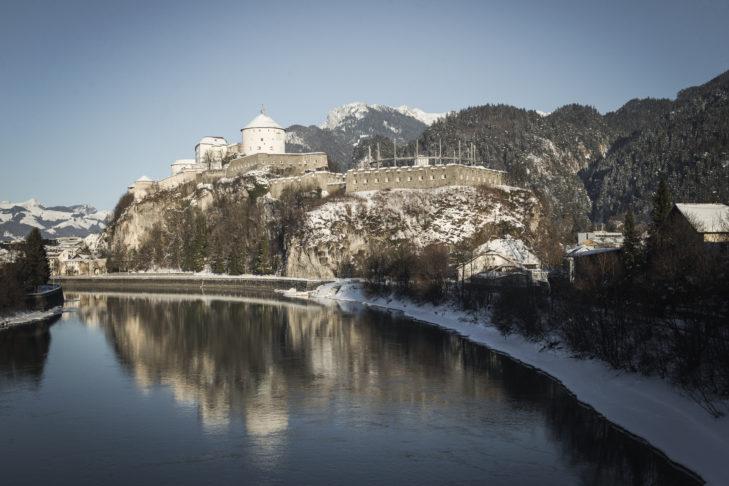 Die Festung Kufstein am Inn ist das Wahrzeichen der Stadt.