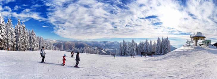 Panorama im Skigebiet Mariazeller Bürgeralpe.