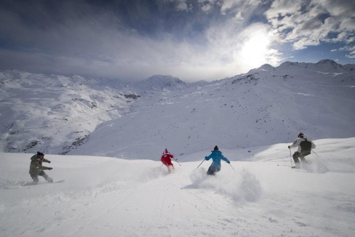 Skigebiet Les Menuires-Saint Martin: Pudrige Abfahrt.