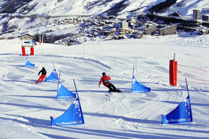Der BK-Snowpark im Skigebiet Les Menuires-Saint Martin.