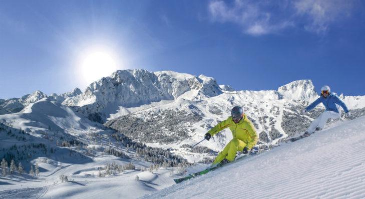 Skigebiet Nassfeld-Pressegger See: Die Nähe zu Italien sorgt für ein sonniges Klima.