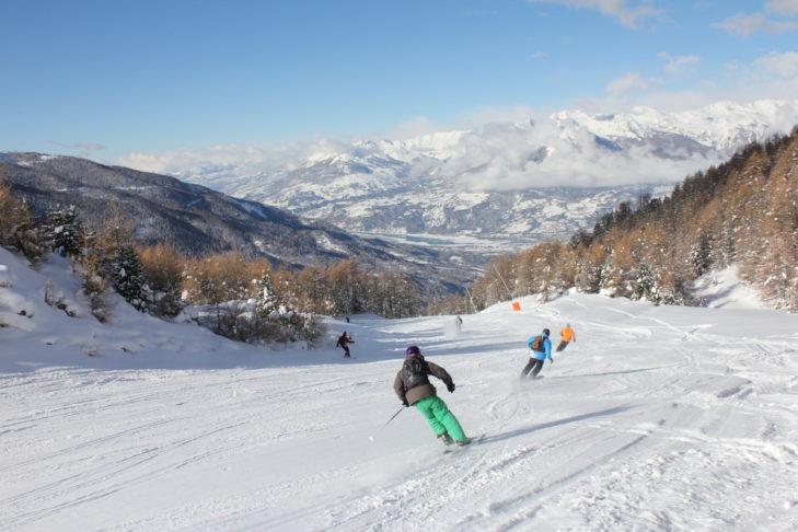 Im Skigebiet Les Orres geht es auf 2.720 m hoch.