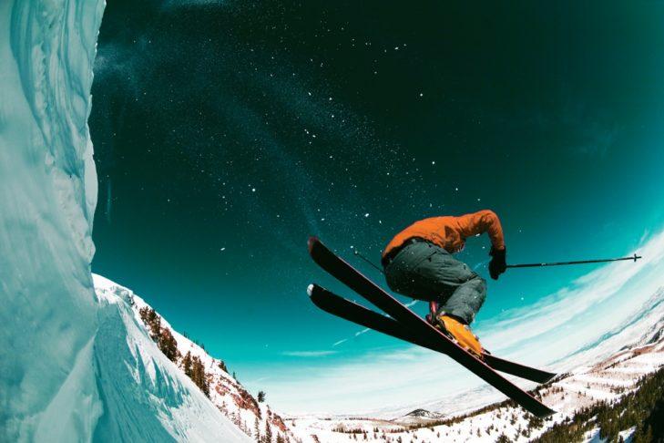 Freeskiing im Skigebiet Park City.